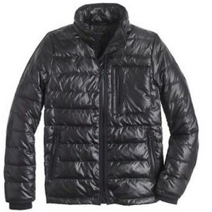JCrew light weight puffer Jacket black size small